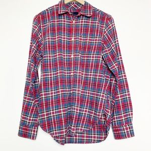 Gap Red Plaid Flannel Button Up Shirt